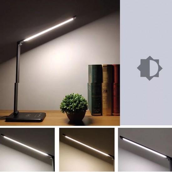 منصة شحن LED متعددة المهام مزودة بشاحن لاسلكي سريع
